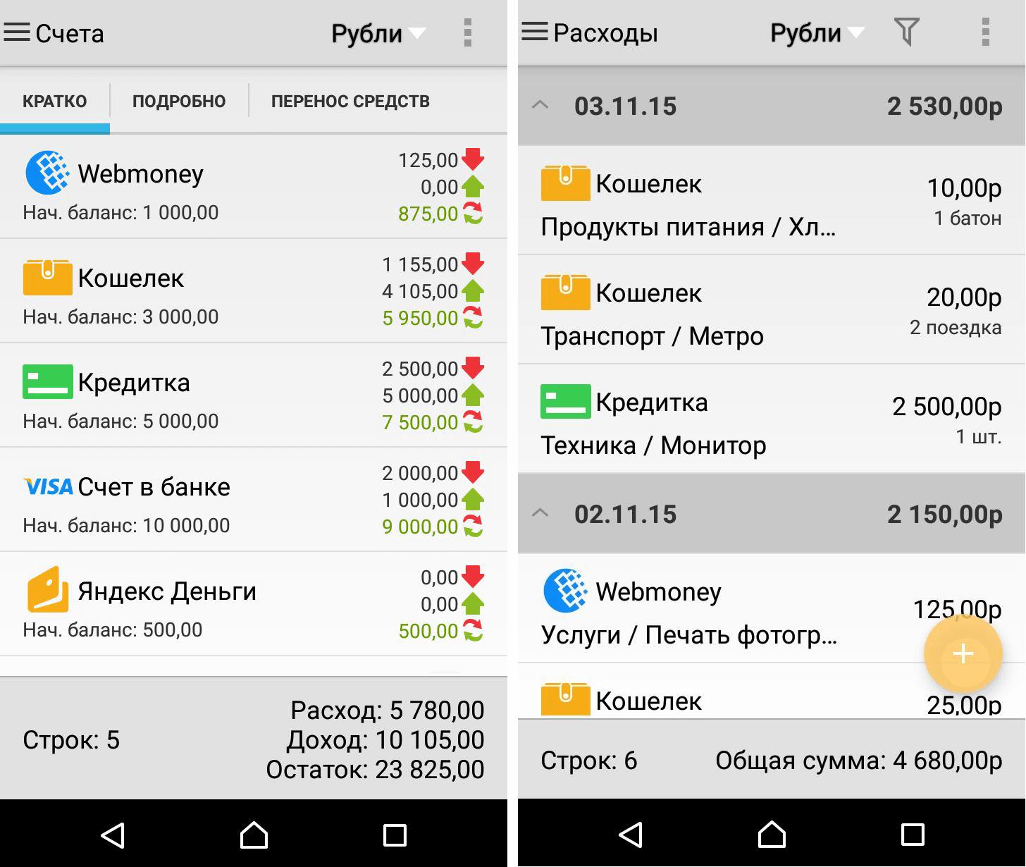 учет в валюте даже на мобильном нетруден