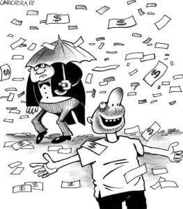 Личные финансы - не так важны, как счастье гулять под дождем из денег?